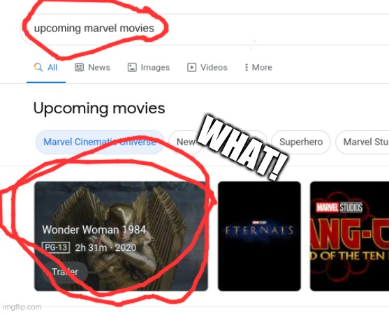 WHAT |  WHAT! | image tagged in marvel,dc,dc comics | made w/ Imgflip meme maker