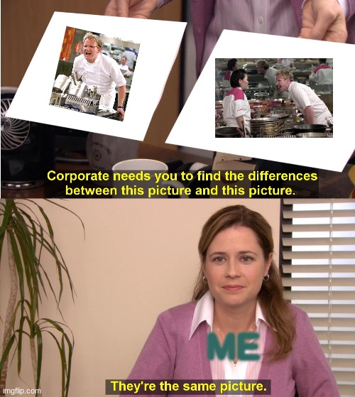 They're The Same Picture |  ME | image tagged in memes,they're the same picture | made w/ Imgflip meme maker