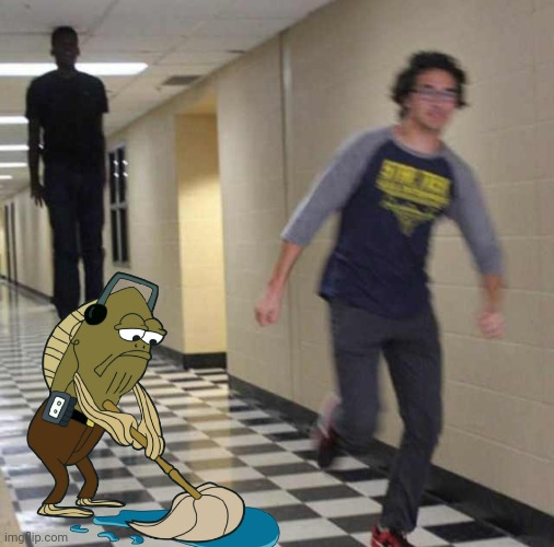 Out Of Context | image tagged in fred just minding his own business,fred mopping | made w/ Imgflip meme maker