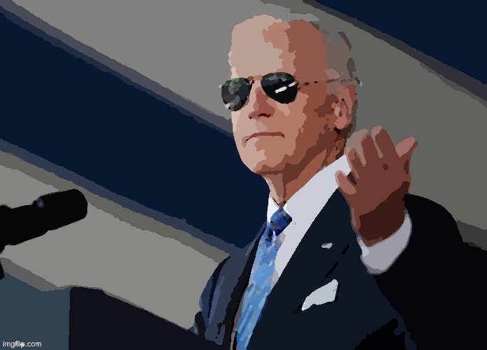 TFW you're a card-carrying Biden sympathizer. | image tagged in cool joe biden posterized | made w/ Imgflip meme maker