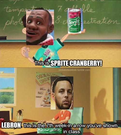I wish i never made this |  SPRITE CRANBERRY! LEBRON | image tagged in basketball,sprite cranberry | made w/ Imgflip meme maker