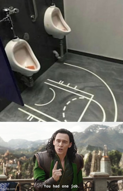 If this was bathroom. | image tagged in you had one job just the one,funny,sports,memes,basketball | made w/ Imgflip meme maker