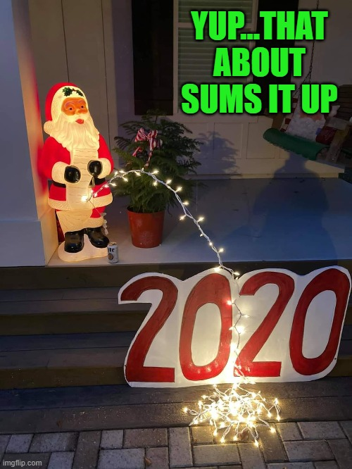 My sentiments exactly!!! |  YUP...THAT ABOUT SUMS IT UP | image tagged in santa's relief,memes,santa claus,funny,christmas,2020 | made w/ Imgflip meme maker