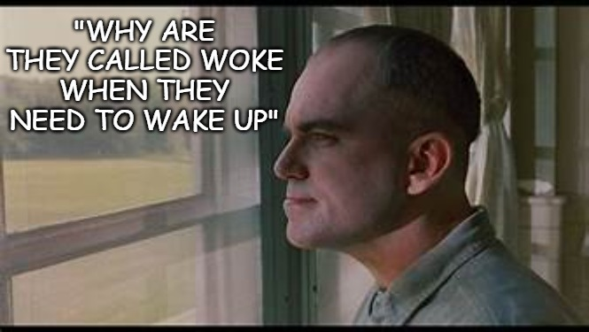 "Woke |  ""WHY ARE THEY CALLED WOKE WHEN THEY NEED TO WAKE UP"" 