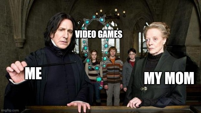 """You care use my spells against me, Potter?"" 