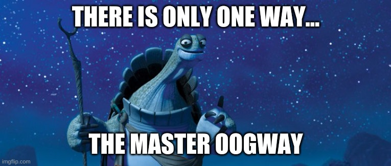 This is the way |  THERE IS ONLY ONE WAY... THE MASTER OOGWAY | image tagged in this is the way | made w/ Imgflip meme maker