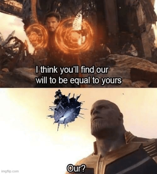 Repost, but dang this is good | image tagged in halo,avengers,thanos | made w/ Imgflip meme maker