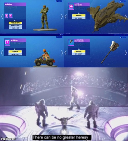 Tartarus... 343 has betrayed us... (kinda cool doe) | image tagged in halo,fortnite | made w/ Imgflip meme maker