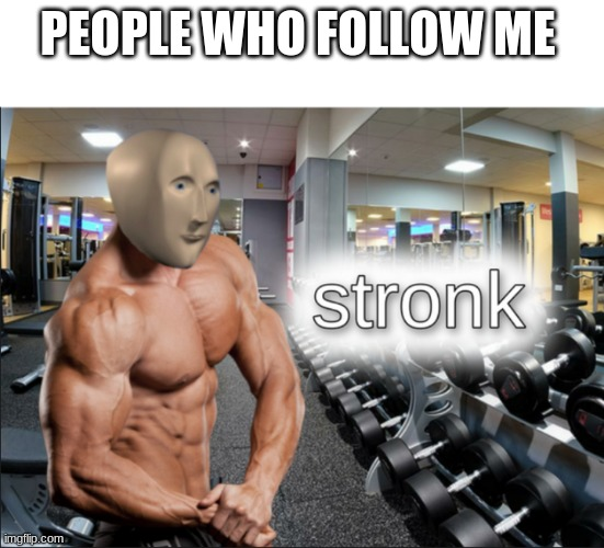 So do it |  PEOPLE WHO FOLLOW ME | image tagged in stronks | made w/ Imgflip meme maker