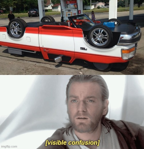 confusing car | image tagged in obi-wan visible confusion,star wars prequels | made w/ Imgflip meme maker