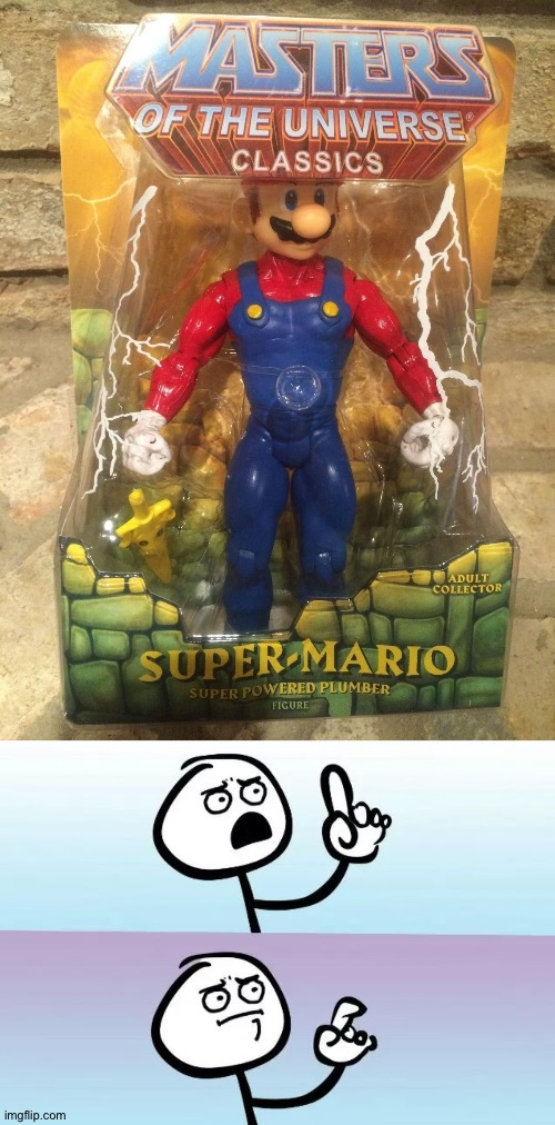 ?Mario is strong? | image tagged in speechless stickman | made w/ Imgflip meme maker
