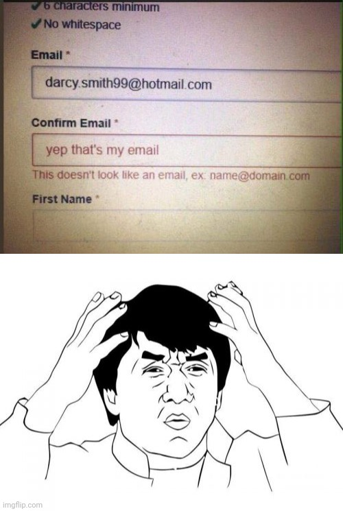 Having a hotmail be like... | image tagged in memes,jackie chan wtf,emails,funny,you had one job,funny memes | made w/ Imgflip meme maker