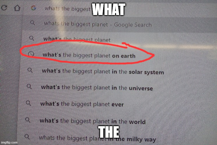 what the |  WHAT; THE | image tagged in earth | made w/ Imgflip meme maker