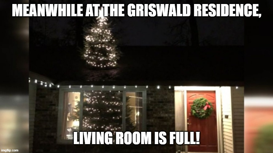 MEANWHILE AT THE GRISWALD RESIDENCE, LIVING ROOM IS FULL! | made w/ Imgflip meme maker