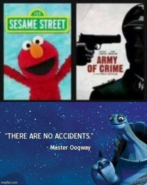 Elmo the Killer | image tagged in elmo,master oogway | made w/ Imgflip meme maker
