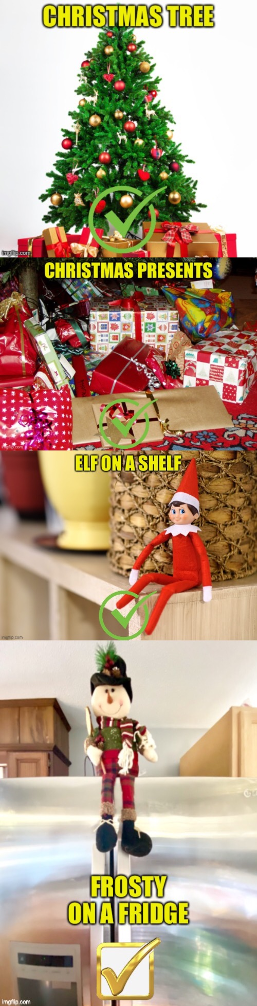 A 2020 Christmas Checklist | image tagged in checklist,christmas,elf,frosty,tree,gifts | made w/ Imgflip meme maker