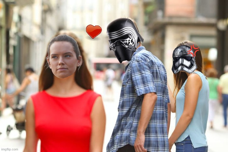 STAR WARS FUNNY<3 | image tagged in funny,star wars,kylo ren,phasma,rey,love | made w/ Imgflip meme maker