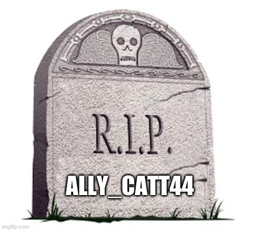 RIP |  ALLY_CATT44 | image tagged in rip | made w/ Imgflip meme maker