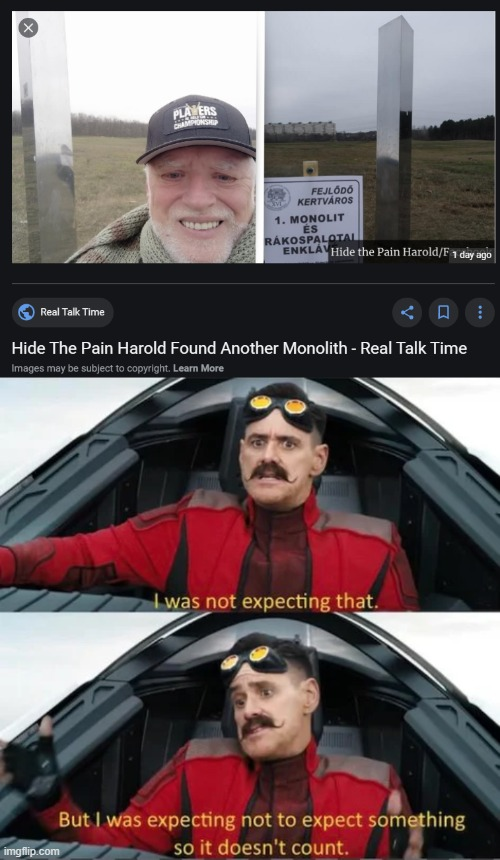 wut | image tagged in memes,hide the pain harold,monolith,sonic the hedgehog | made w/ Imgflip meme maker