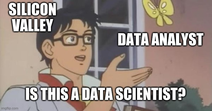 A data scientist is just a data analyst working in Sillicon Valley