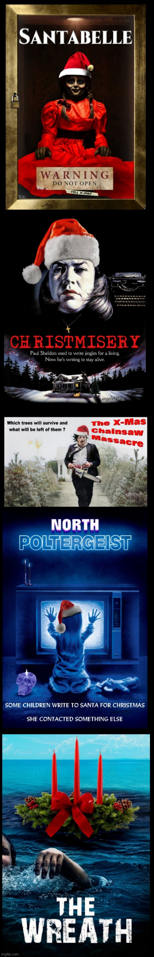 image tagged in horror,christmas,horror movie,movies,holidays,christmas memes | made w/ Imgflip meme maker