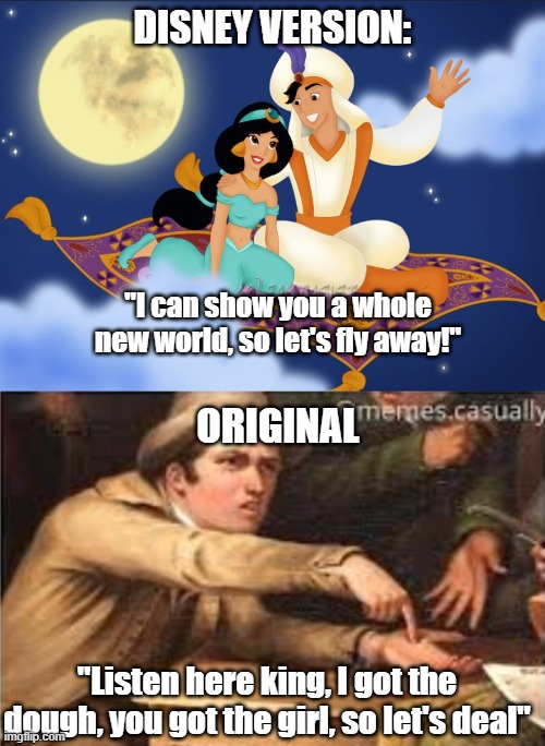Disney vs. Original - Imgflip