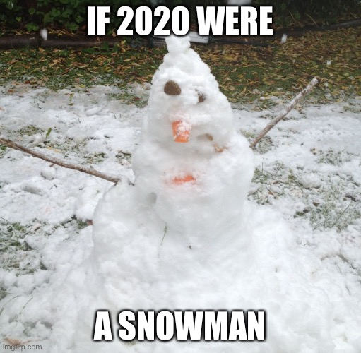 It's almost over! |  IF 2020 WERE; A SNOWMAN | image tagged in 2020,memes,funny,snowman,stupid signs,2020 sucks | made w/ Imgflip meme maker