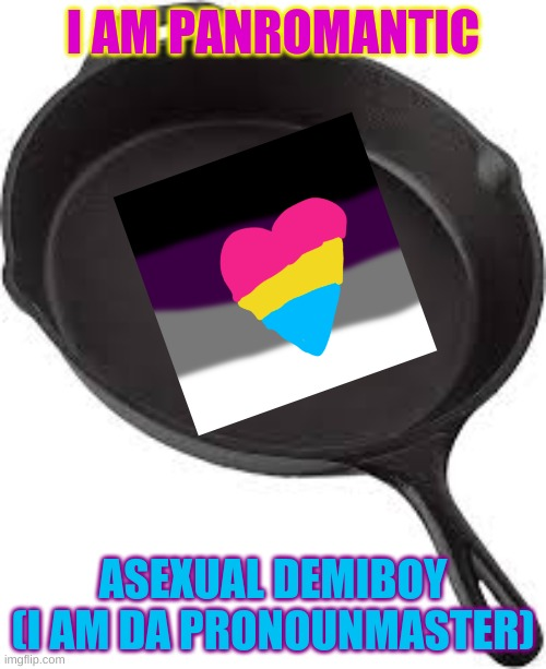 REEE I AM ANOYING |  I AM PANROMANTIC; ASEXUAL DEMIBOY (I AM DA PRONOUNMASTER) | image tagged in pansexuals will understand,annoying | made w/ Imgflip meme maker