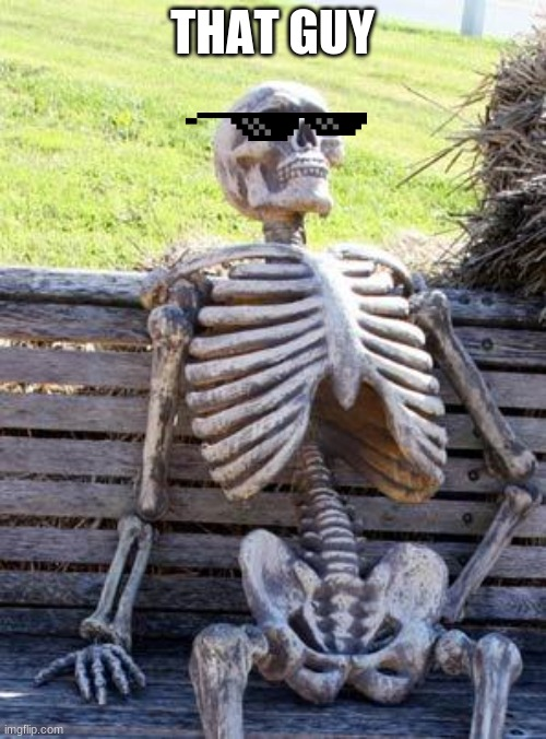 Waiting Skeleton Meme | THAT GUY | image tagged in memes,waiting skeleton | made w/ Imgflip meme maker