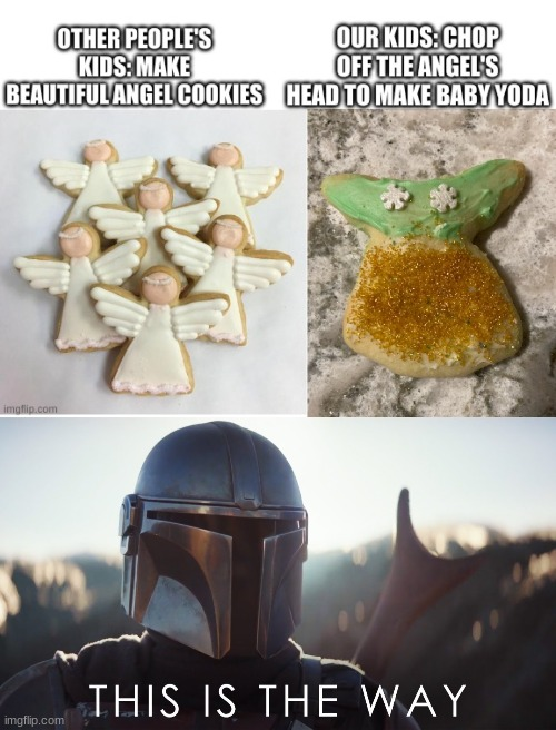 image tagged in this is the way,christmas,merry christmas,the mandalorian,baby yoda,grogu | made w/ Imgflip meme maker