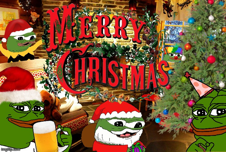 A Very Pepe Christmas | image tagged in pepe the frog,merry christmas,honk | made w/ Imgflip meme maker