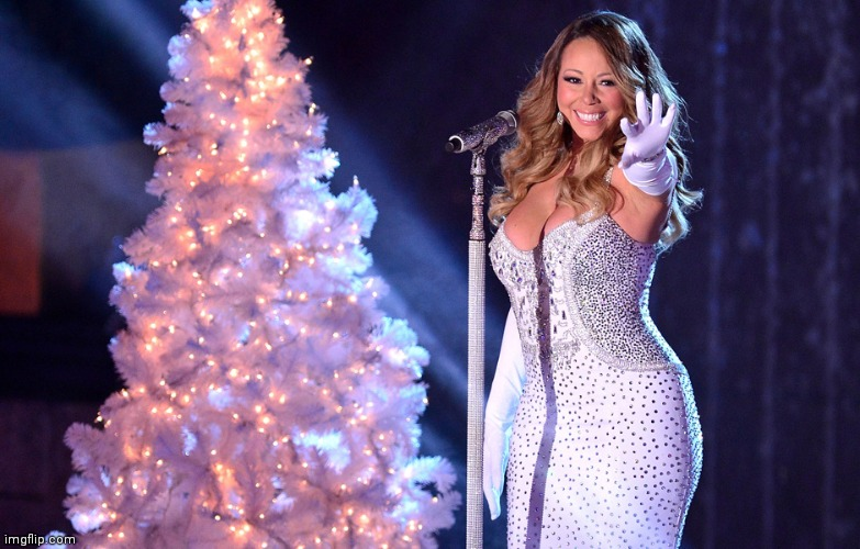 Merry Christmas from the Most Beautiful woman on Earth | image tagged in mariah carey christmas,beautiful,all i want,singer,voice | made w/ Imgflip meme maker
