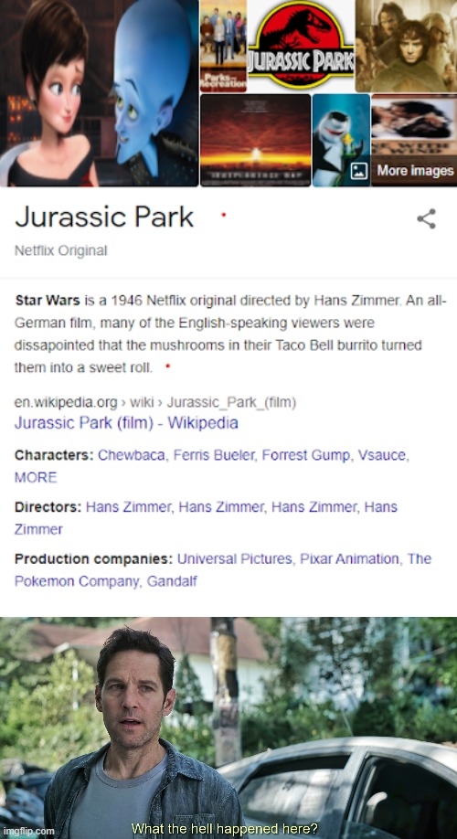 Jurassic . . . Shrek? | image tagged in what the hell happened here,jurassic park,movies | made w/ Imgflip meme maker