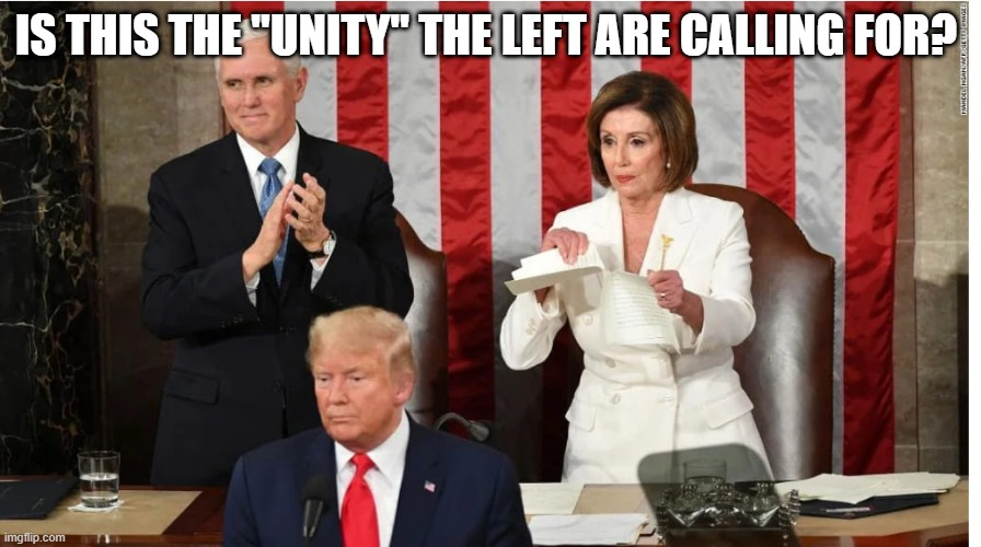"unity |  IS THIS THE ""UNITY"" THE LEFT ARE CALLING FOR? 