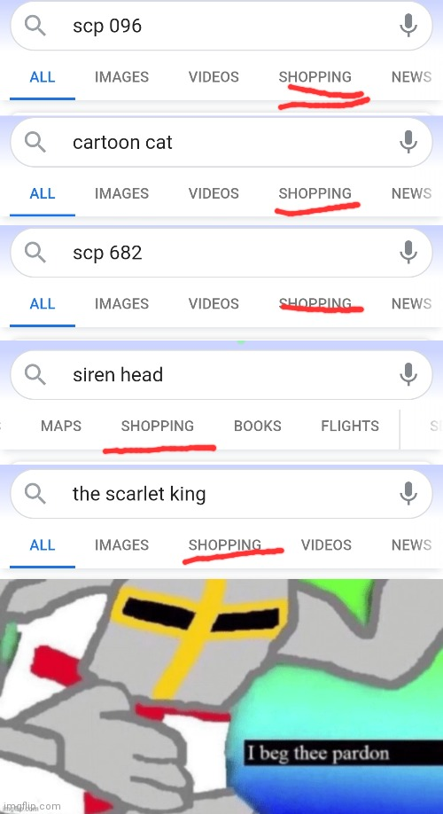 I would post this in SCP, but Siren Head and Cartoon Cat aren't SCPs | image tagged in excuse me what the f ck crusader edition,scp,scp meme,siren head,google,google search | made w/ Imgflip meme maker