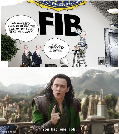 Job fail: It's FBI, not FIB. | image tagged in you had one job just the one,you had one job,task failed successfully,funny,memes,fbi | made w/ Imgflip meme maker