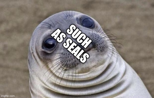 Birdemic be like |  SUCH AS SEALS | image tagged in memes,awkward moment sealion | made w/ Imgflip meme maker