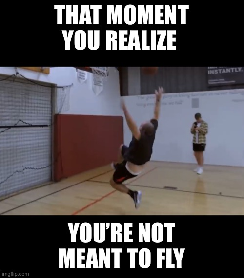 Tom segura |  THAT MOMENT YOU REALIZE; YOU'RE NOT MEANT TO FLY | image tagged in tom,funny,funny memes,funny meme | made w/ Imgflip meme maker
