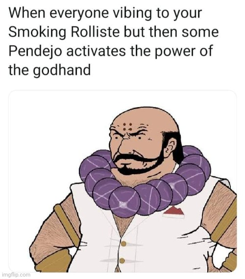 Smoking Rolliste vs Bronco Buster | image tagged in godhand,capcom,clover studios,bossfights,videogames,memes | made w/ Imgflip meme maker