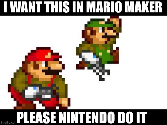 I want it I'm serious |  I WANT THIS IN MARIO MAKER; PLEASE NINTENDO DO IT | image tagged in portal,nintendo | made w/ Imgflip meme maker