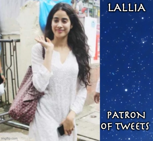 Modern Muses |  LALLIA; PATRON OF TWEETS | image tagged in myth,greek mythology,goddess | made w/ Imgflip meme maker