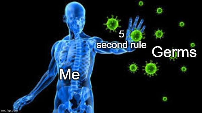 The force | Me 5 second rule Germs | image tagged in the force | made w/ Imgflip meme maker