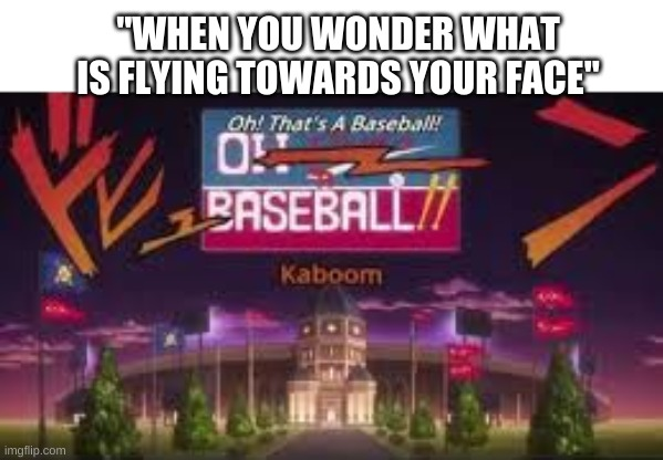 "oh that's no good! |  ""WHEN YOU WONDER WHAT IS FLYING TOWARDS YOUR FACE"" 