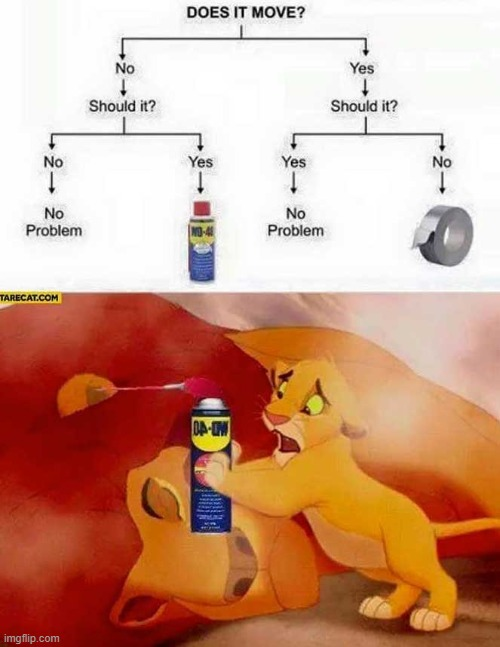 Try flex tape next time | image tagged in dad,lion king,lion king meme,funny,fun | made w/ Imgflip meme maker