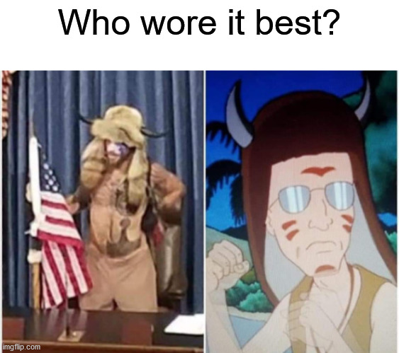 Who wore it best? | image tagged in republicans,who wore it better,king of the hill | made w/ Imgflip meme maker