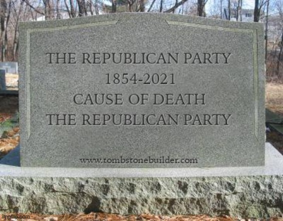 GOP have killed themselves | image tagged in gop,republican party,trump,president trump,republicans,traitors | made w/ Imgflip meme maker