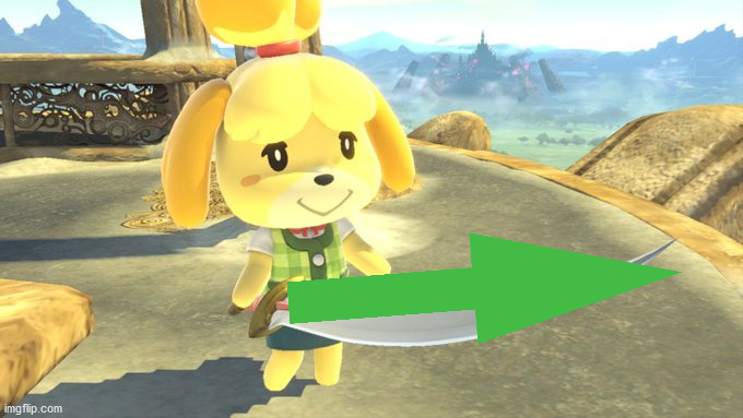 Isabelle Sword | image tagged in isabelle sword | made w/ Imgflip meme maker