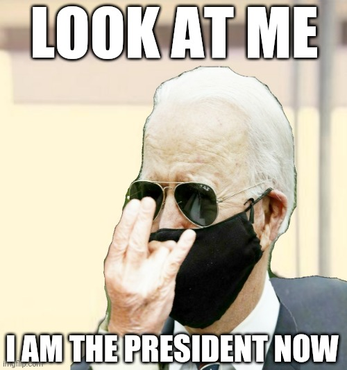 LOOK AT ME; I AM THE PRESIDENT NOW | image tagged in biden obama,potus,thief,pedophile,pirate | made w/ Imgflip meme maker