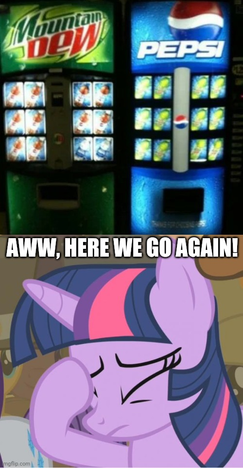 What?! Not another Turntables!!! |  AWW, HERE WE GO AGAIN! | image tagged in mlp twilight sparkle facehoof,you had one job,how the turntables,funny,task failed successfully,memes | made w/ Imgflip meme maker