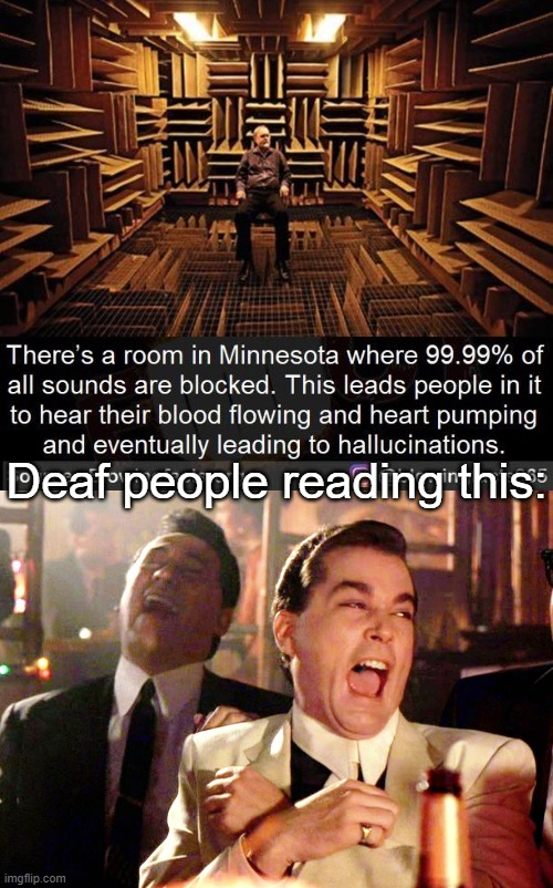 And being deaf is a bad thing? |  Deaf people reading this: | image tagged in memes,good fellas hilarious,deaf,sound | made w/ Imgflip meme maker
